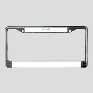 Germiphobe License Plate Frame
