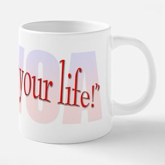 Walk For Your Life.png 20 oz Ceramic Mega Mug