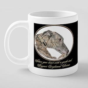 GreyhoundRes1DRKMug 20 oz Ceramic Mega Mug
