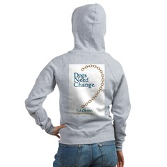 Dogs Need Change, Not Chains Zip Hoodie