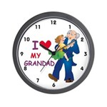 I Love My Grandad Wall Clock