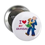 I Love My Grandad Button