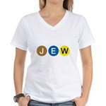 J E W Women's V-Neck T-Shirt