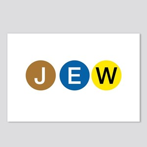 J E W Postcards (Package of 8)
