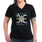 78th ASA SOU Women's V-Neck Dark T-Shirt