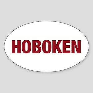 Hoboken Oval Sticker