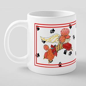 apricot poodle horiz copy.p 20 oz Ceramic Mega Mug