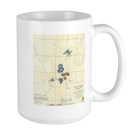 1833 Map of Portsmouth Isle of Shoals Large Mug