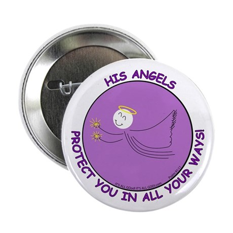 """ANGEL PROTECTION PURPLE 2.25"""" Button (10 pack)"""