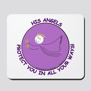 ANGEL PROTECTION PURPLE Mousepad