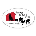 Red Shed Racing Oval Sticker (50 pk)
