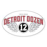 The Detroit Dozen Oval Sticker