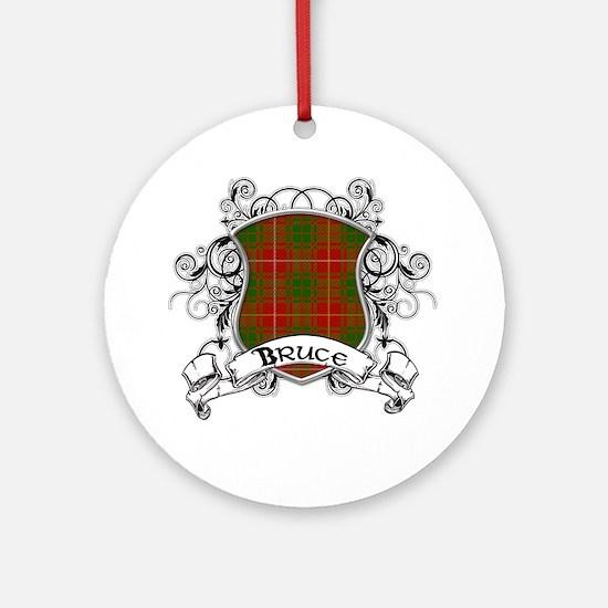 Bruce Tartan Shield Ornament (Round)