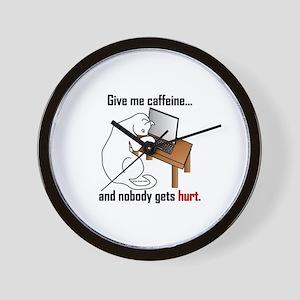 Give Me Caffeine... Wall Clock
