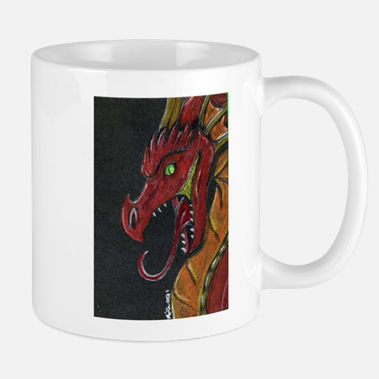 Unique Red dragon fire Mug