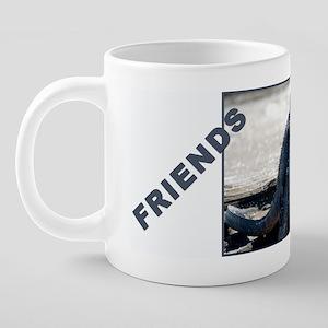 mug_full_best_friends2 20 oz Ceramic Mega Mug