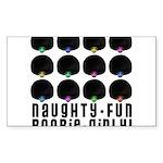 Naughty-Fun Boobie-Girly! Rectangle Sticker 50 pk