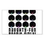 Naughty-Fun Boobie-Girly! Rectangle Sticker 10 pk