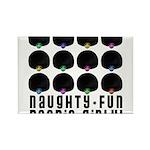 Naughty-Fun Boobie-Girly! Rectangle Magnet (10 pac