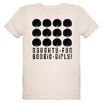 Naughty-Fun Boobie-Girly! Organic Kids T-Shirt