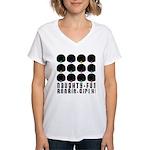 Naughty-Fun Boobie-Girly! Women's V-Neck T-Shirt