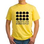 Naughty-Fun Boobie-Girly! Yellow T-Shirt