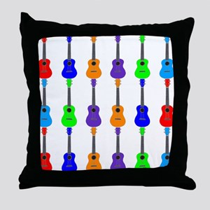 Ukuleles Throw Pillow