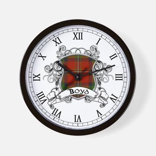 Boyd Tartan Shield Wall Clock
