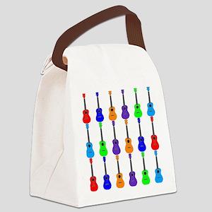 Ukuleles Canvas Lunch Bag