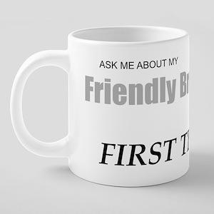 Friendly Breast Exam Tee sh 20 oz Ceramic Mega Mug