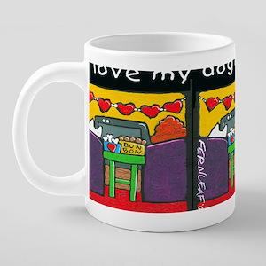 lovemy DOGCUPcp 20 oz Ceramic Mega Mug