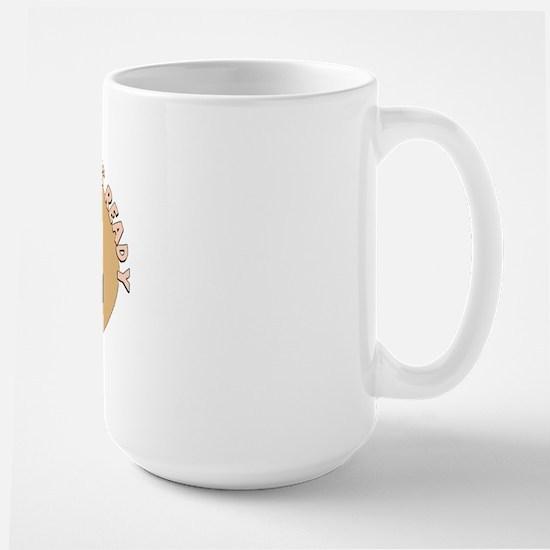 sleeping pharaoh hound Large Mug