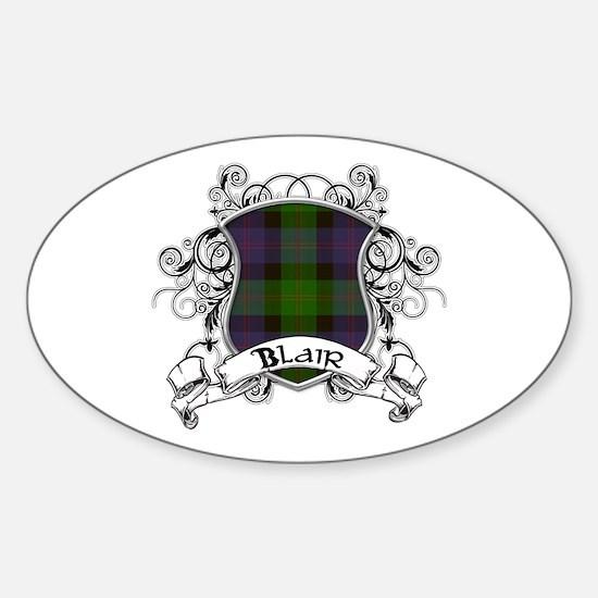 Blair Tartan Shield Sticker (Oval)