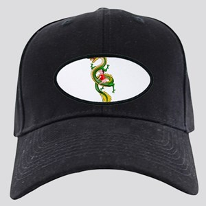 Dragon Pig Black Cap with Patch