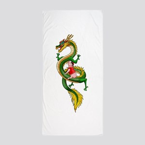 Dragon Pig Beach Towel