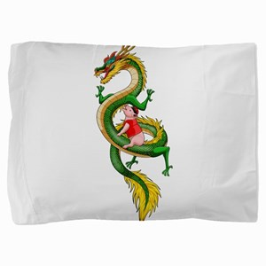 Dragon Pig Pillow Sham