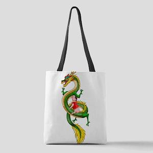 Dragon Pig Polyester Tote Bag