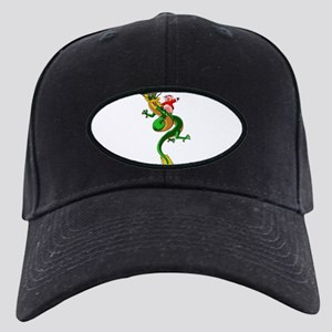 Pig Dragon Black Cap with Patch