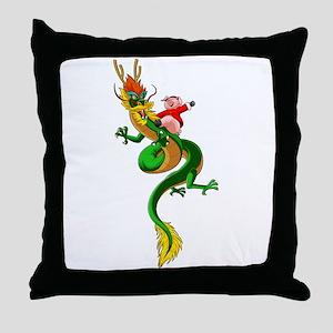 Pig Dragon Throw Pillow