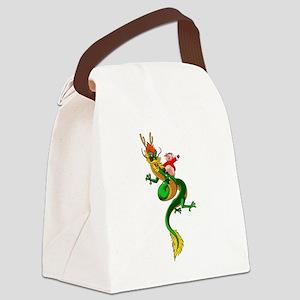 Pig Dragon Canvas Lunch Bag