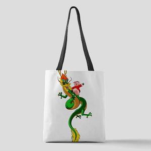 Pig Dragon Polyester Tote Bag