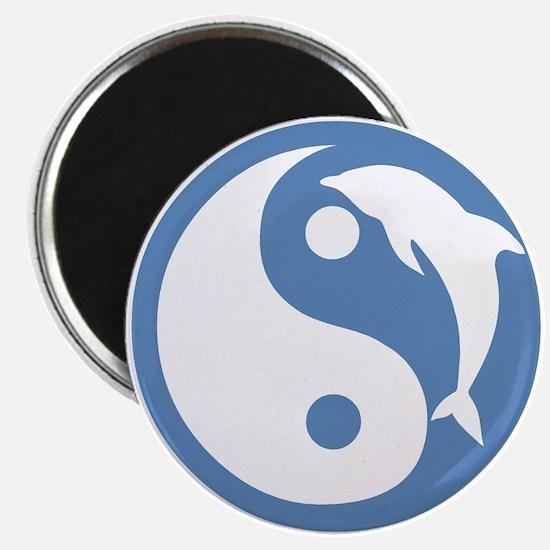 Blue Dolphin Yin Yang Magnet
