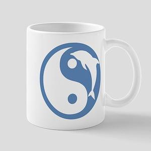 Blue Dolphin Yin Yang Mug