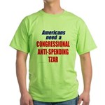 Anti-Spending Tzar Green T-Shirt