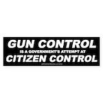 Gun Control - Citizen Control (Bumper 50 pk)