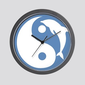 Blue Dolphin Yin Yang Wall Clock