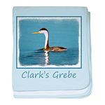 Clark's Grebe baby blanket