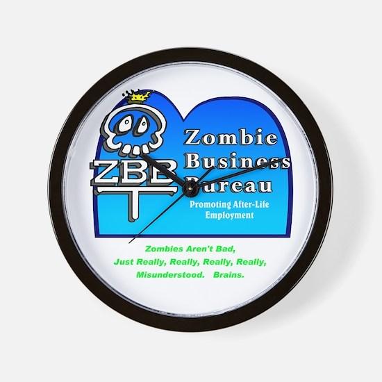 Zombie Business Bureau Wall Clock