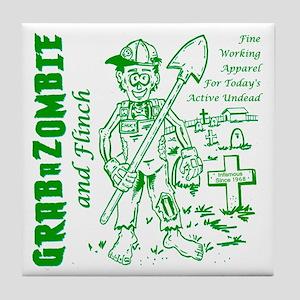 Funny Grabazombie Flinch Zombie Fashi Tile Coaster