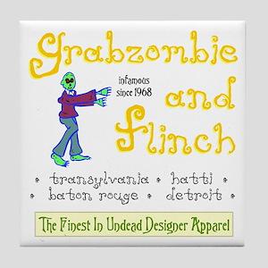 Funny Grabazombie Zombie Fashion Tile Coaster
